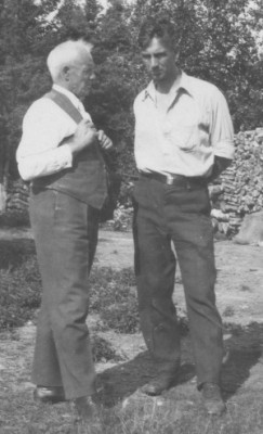 Frederick Stevens (left) was an expert with Cree syllabics. UCArchivesWpg album 4 -124