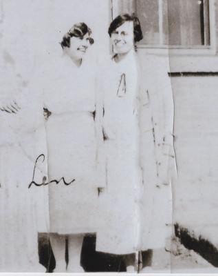 Lenore Schaldemose, nurse at Brandon IRS with the Boys' Matron, Miss Pollet, c1926.  UCArchivesWpg