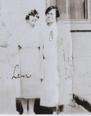 Lenore Schaldemose, nurse at Brandon IRS with the Boys' Matron, Miss Pollet, c1926.  UCArchivesWpg