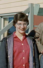 Margaret (Reid) May, while teaching at Norway House 1957-1959. UCArchivesWpg mayreid 177.
