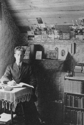 Roscoe in his study, 1909, from his memoir.