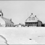 Norway House Anglican Church and rectory c 1929-32 (UCCArchives bruce 066)