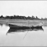 Original Caption: A relic of bygone days. An old York boat at the Fort. Norway House c 1929-32 (UCCArchives bruce173)