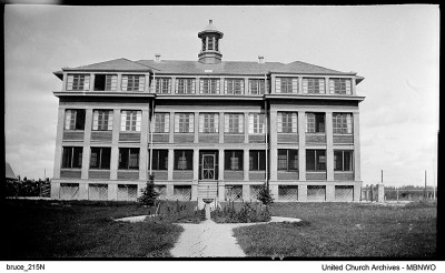Opened in 1915, this building included classroom space and accommodation for 80.  Some years as many as 100 lived in the building. UCArchivesWpg bruce 215