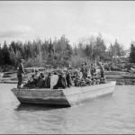 School children on the community barge, Norway House c 1929-32 (UCCArchivesWpg bruce N169)