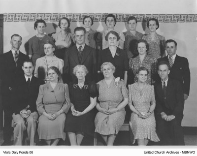 Staff at Brandon Indian Residential School, 1941-42 UCArchivesWpg Daly 06