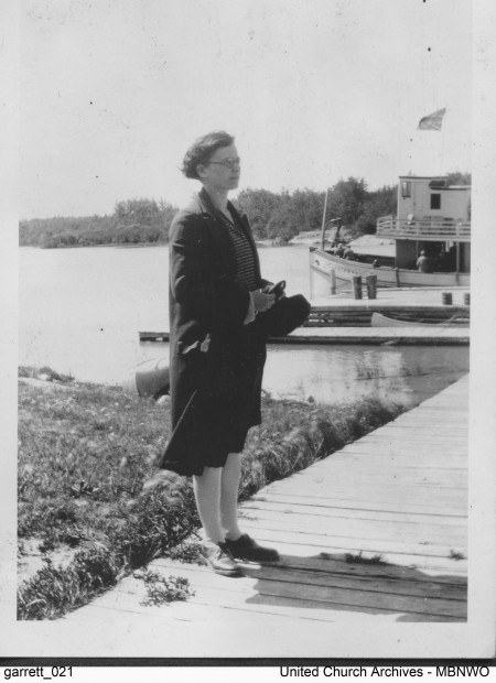 Emily Martin was the Deaconess at St Andrew's Elgin United Church when she took a holiday to Norway House on the SS Keenora and SS Wolverine, sometme between 1932 and 1936. UCArchivesWpg garrett 21